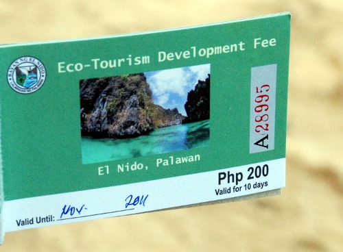 Eco-Tourism Development Fee (ETDF) El Nido, Palawan