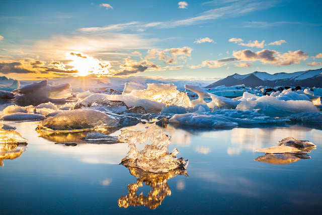 Fire and Ice, the Glacier Lagoon