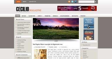Free Wordpress Theme - Cecilio