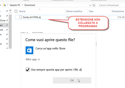 estensione-non-collegata-software