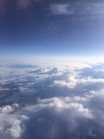 View outside the airplane window on the flight from Copenhagen to Bergen, Norway (Source: Palmia Observatory)