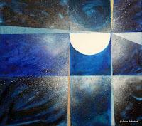 """""""Die Elemente des Kosmos aufnehmen"""", Öl auf Leinwand, 68x60, 2008"""