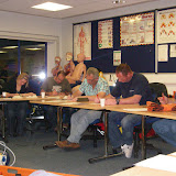 Casualty Care for Lifeboat Crew course – April 2011: crew members completing their final multiple-choice question assessment. We all passed!