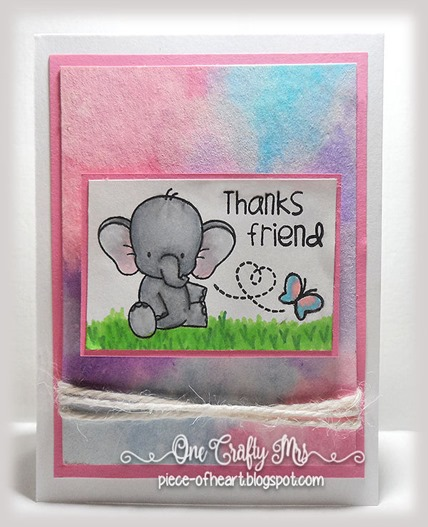Adorable Elephant Thank You_onecraftymrs