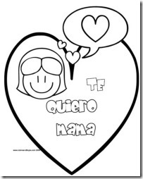 Dibujos para colorear amor y corazones