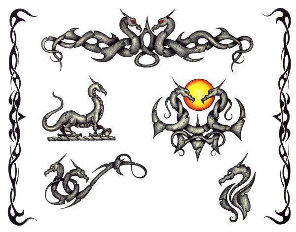 Horror Tattoo Design 9, Fantasy Tattoo Designs