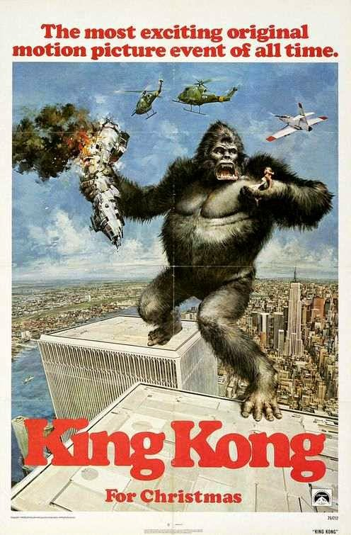 Poster Of King Kong (1976) Full Movie Hindi Dubbed Free Download Watch Online At alldownloads4u.com