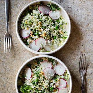 Cauliflower Couscous with Peas, Mint & Feta
