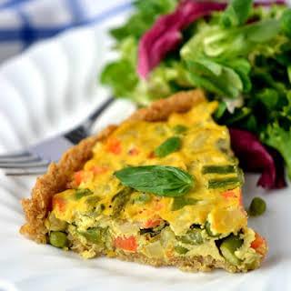 Vegan Asparagus & Fennel Quiche (with Quinoa Crust).