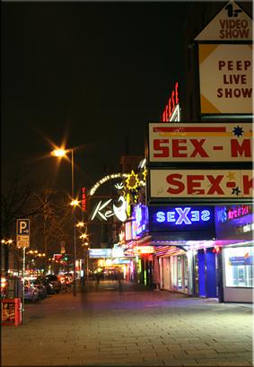 La calle Reeperbahn