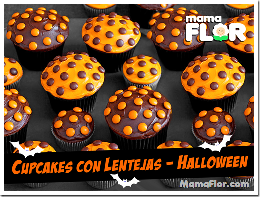 Cupcakes de Halloween Bicolor