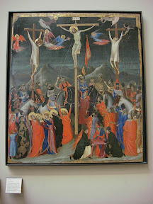 The Crucifixion from the Atelier de Giotto (Studio of Giotto).  Painted by one of Giotto's students.