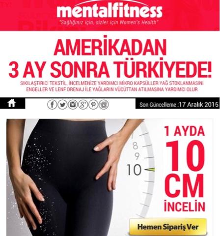 Zayıflama Taytı Amerika'dan sonra Türkiye'de 1 ayda 10cm incelme