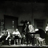 Cindy Brown, Warren Stewart, Carleton Hawthorne, Jerry Rice, Helen Rudsill, Harriet McMullen and Max Hall in BUS STOP - January 1958.  Property of The Schenectady Civic Players Theater Archive.