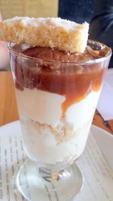 Clyde Common dessert parfait, coconut tapioca, coffee caramel, cream