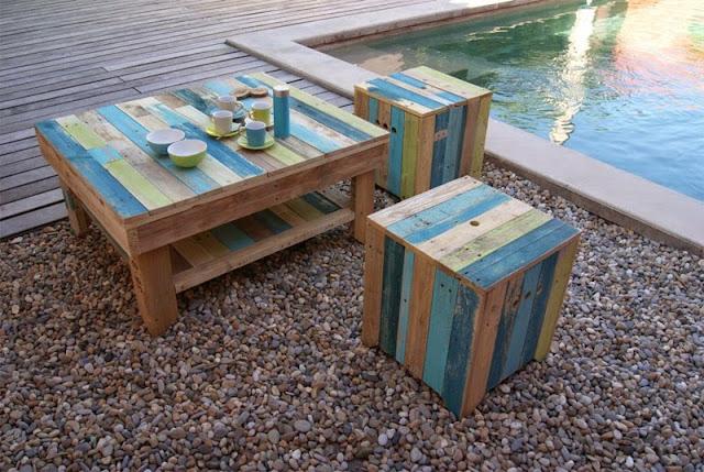 Mobilier en palette de bois for Meuble exterieur en palette
