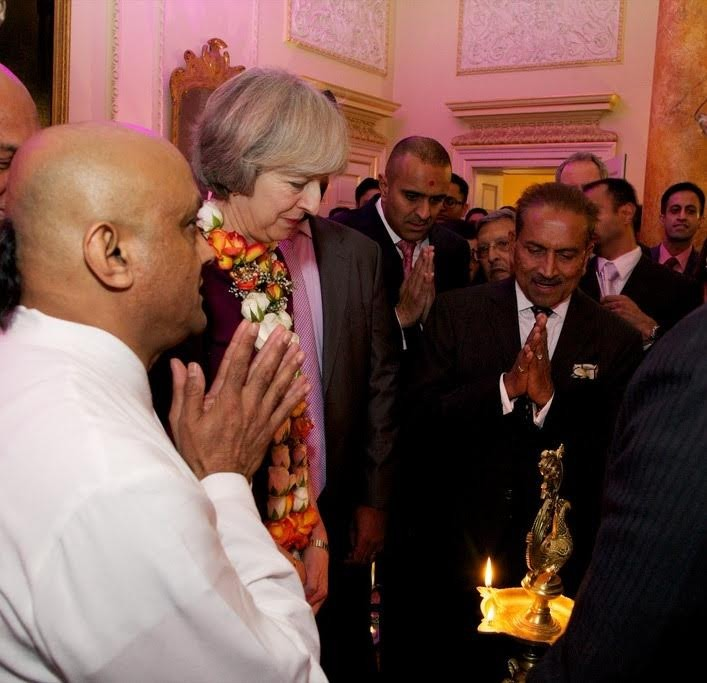 ISKCON devotees attend Diwali at Number 10 (British Prime Minister's residence)