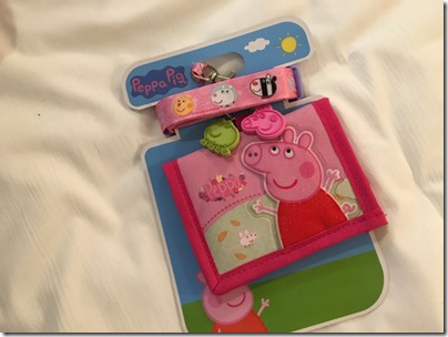 Peppa Pig kid wallet with lanyard