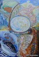 'Im Reich der Erde' Acryl, Steine, Korrund auf Leinwand, 120x180, Herbst 2011