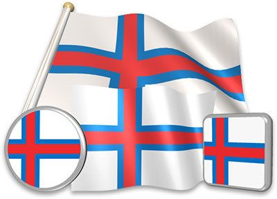 Faroese flag animated gif collection