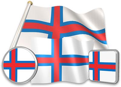 Faroese flag animated gif collection
