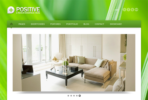 Positive Eco Friendly WordPress Business Theme