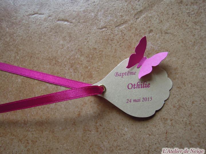 135 - Etiquettes à dragées Baptême  Othilie 24 mai 2015