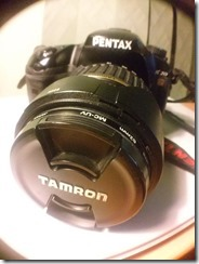 Pentax & Tamrom Lens, my favourite combo