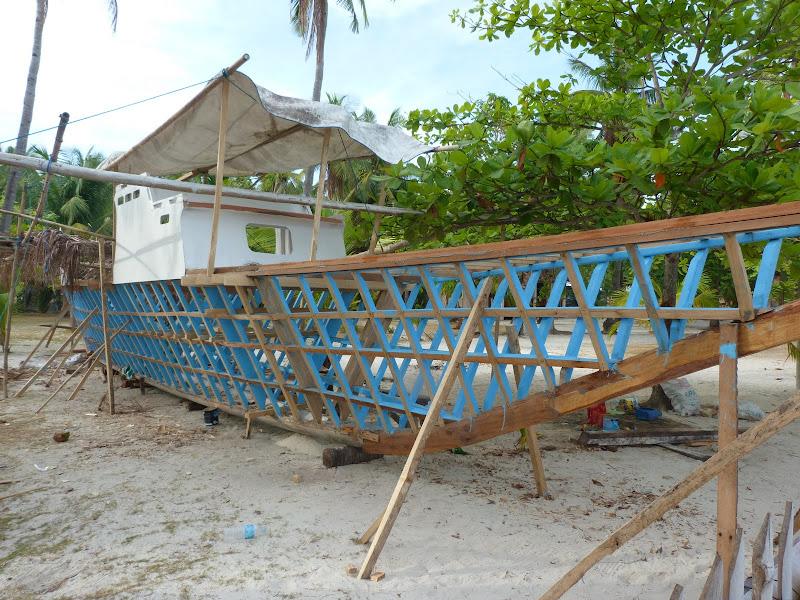 Malapascua. Charpentiers de marine