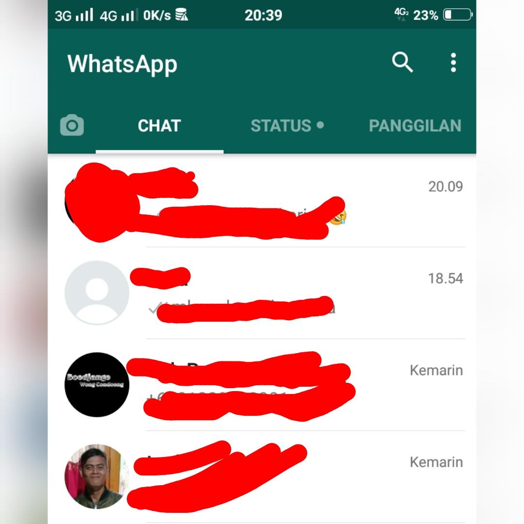 beranda aplikasi whatsapp