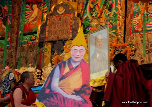 Massive religious gathering and enthronement of Dalai Lama's portrait in Lithang, Tibet. - l55.JPG