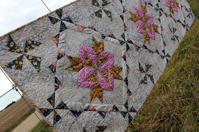 Zephyr Table Runner by Kim Lapacek Quilted by Kim Van Etten