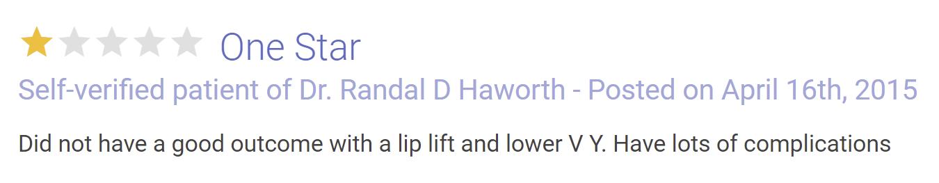 Dr. Randal Haworth review 2