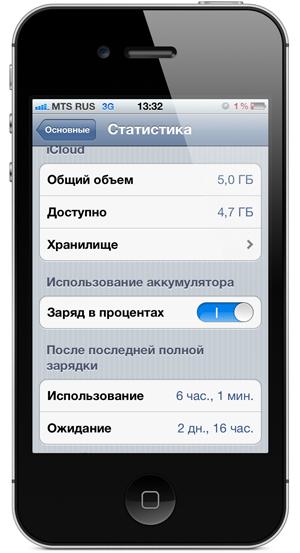 на что способна батарея iPhone 4S