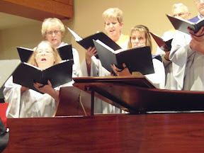 Singing God's praisesThe choir was magnificent.