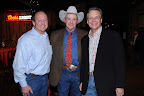 Eddie Deen, Silver Saddle Humanitarian Award Recipient; honorary chairman Walt Garrison, a former Dallas Cowboy football player; and Kevin Payne, president of Texas Horse Park.