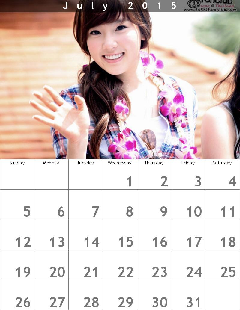 幼い少女時代テヨンカレンダー1507