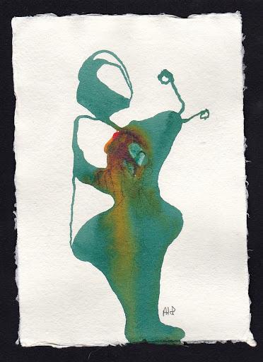 Pomponnez-vous. Artist Andrea Hupke de Palacio. Experiences: An Online Gallery Show of Small Paintings