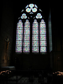 Notre Dame has some amazing stained glass windows.