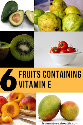 Avocado Fruits Containing Vitamin E, Guava Fruits Containing Vitamin E, Kiwi Fruits Containing Vitamin E, Mango Fruits Containing Vitamin E, Peach Fruits Containing Vitamin E