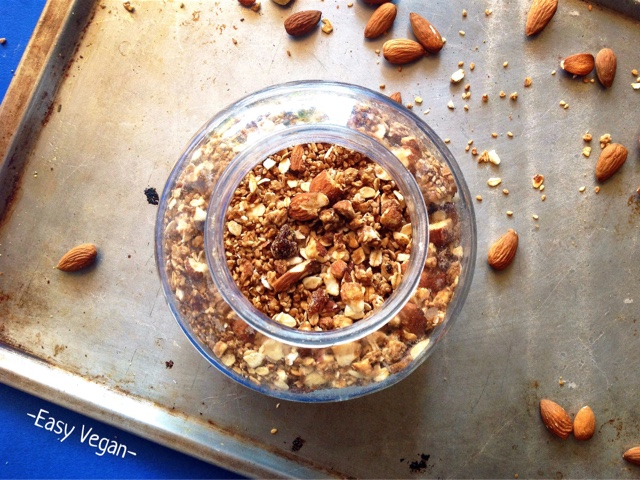 La granola è una variante croccante e più dolce dei muesli, con tanta frutta secca e semi e ovviamente i fiocchi d'avena... di solito si fa impastando la frutta e  i fiocchi con poco olio e zucchero e infornando il composto fino a che non è croccante. In questa versione non avrete bisogno nè del'olio nè del forno.. perchè si fa tutto in pentola!