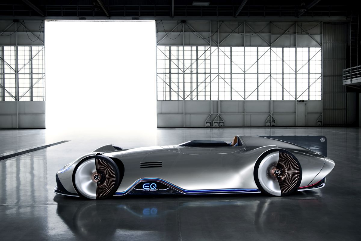 Mercedes benz vision eq silver arrow for Mercedes benz motorsport