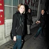 WWW.ENTSIMAGES.COM -  Laura Carmichael  leaving Uncle Vanya Vaudiville Theatre Strand London January 7th 2013                                                       Photo Mobis Photos/OIC 0203 174 1069