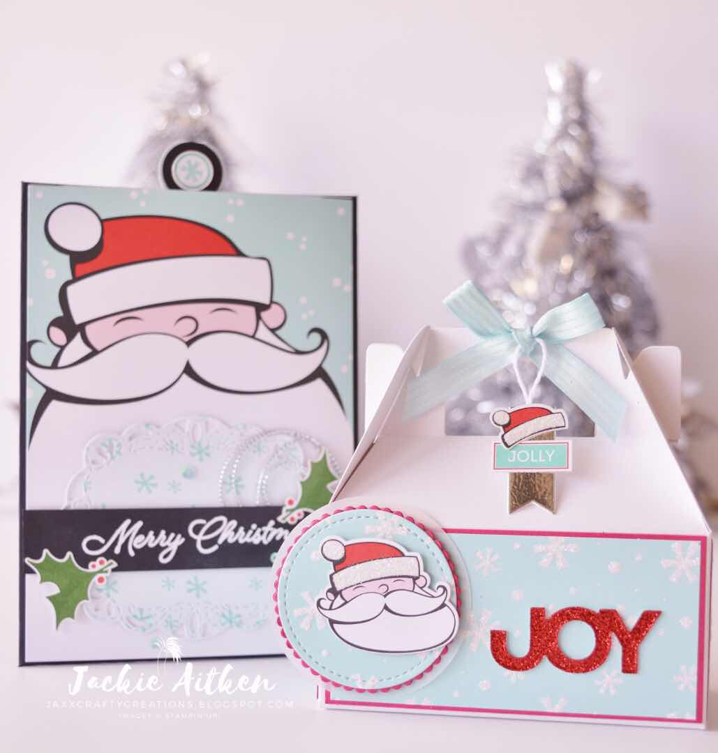Stampin Up, Christmas Card, Pocket Card, AddINKtive Designs, Signs of Santa stamp set, jaxxcraftycreations