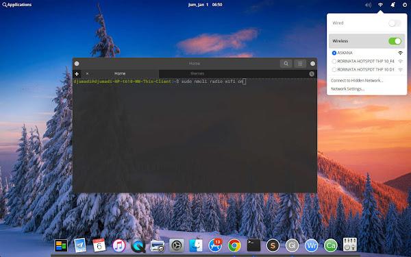 Cara Enable Wireless di Elementary OS 5.1 Hera