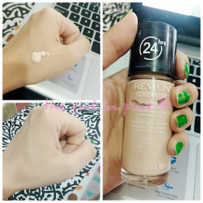 revlon colorstay foundation 110 ivory swatch
