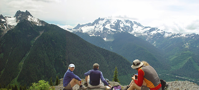 The Goat Mountain Trail offers early season access to the wilderness, incredible views of the upper Nooksack River Valley, wildflower displays, and the sights and sounds of thundering glaciers falling from Mount Shuksan.Credit: Rose Anne Featherston