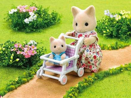 Với Đồ chơi Epoch 1723 Xe đẩy trẻ em Nursery Pushchair, bé có thể tưởng tượng ra nhiều câu chuyện thú vị
