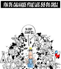 """Photo: 2010_Fin du calvaire pour les """"33"""" du Chili"""