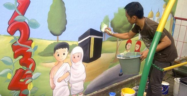 Jasa Lukisan Mural Dinding Kelas Sd Terbaik